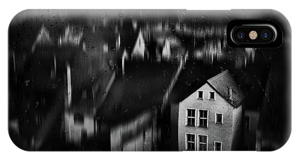 Rooftops iPhone Case - Haunted House by Samanta Krivec