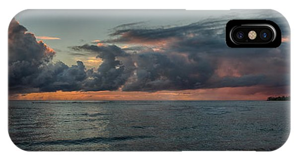 Hauula Sunrise Panorama IPhone Case