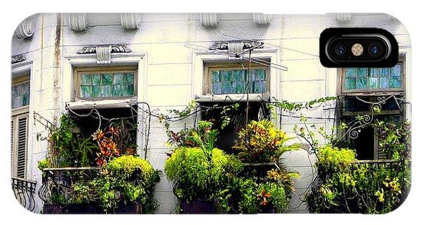 Ironwork iPhone Case - Havana Windows by Karen Wiles