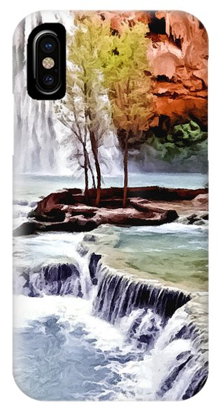 Havasau Falls Painting IPhone Case