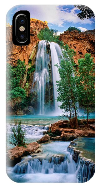 Clear iPhone Case - Havasu Cascades by Inge Johnsson