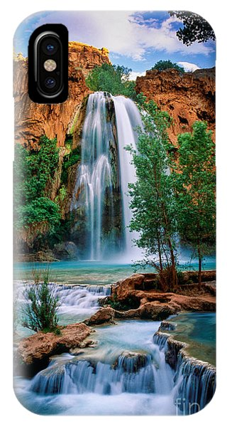 Colourful iPhone Case - Havasu Cascades by Inge Johnsson