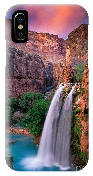 Grand Canyon iPhone Case - Havasu Falls by Inge Johnsson