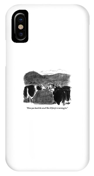 July 4 iPhone Case - Have You Heard The News?  Ben & Jerry's by Warren Miller