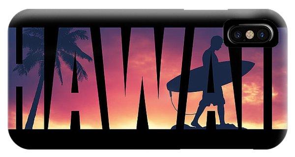 Hawaii iPhone Case - Hawaii Postcard by Mr Doomits