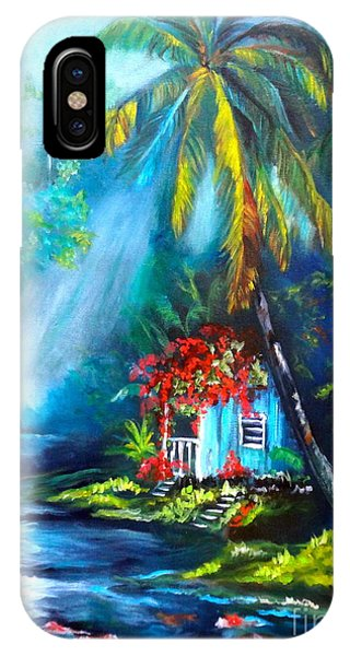 Hawaiian Hut In The Mist IPhone Case