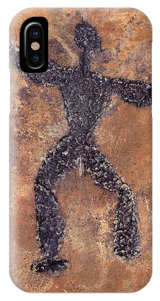 Hawaiian Petroglyph Of Man On Rock IPhone Case