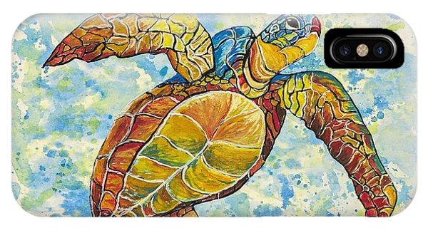 Hawaiian Sea Turtle 2 IPhone Case