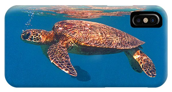 Hawaiian Sea Turtle In Flight IPhone Case