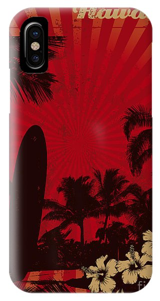 Long Beach Island iPhone Case - Hawaiian Vintage Surf Poster by Locote