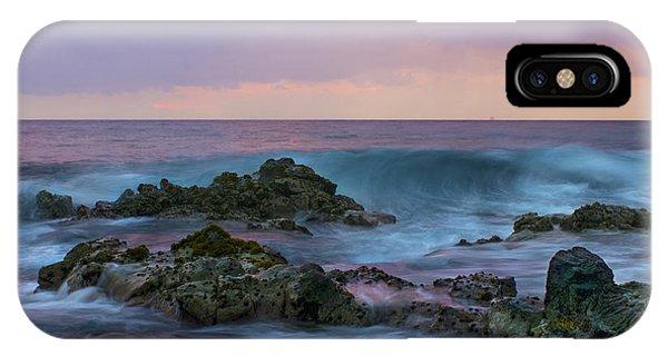 Hawaiian Waves At Sunset IPhone Case