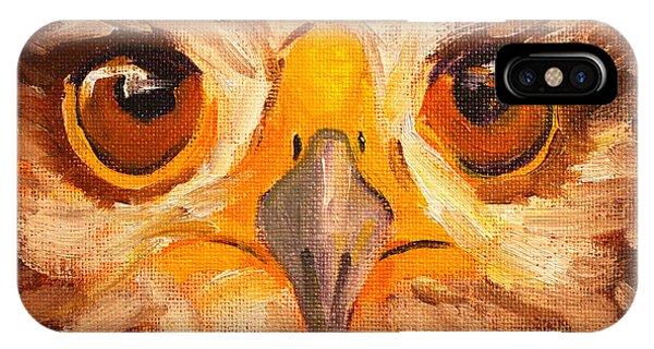 Cunning iPhone X Case - Hawk Eyes by Nancy Merkle