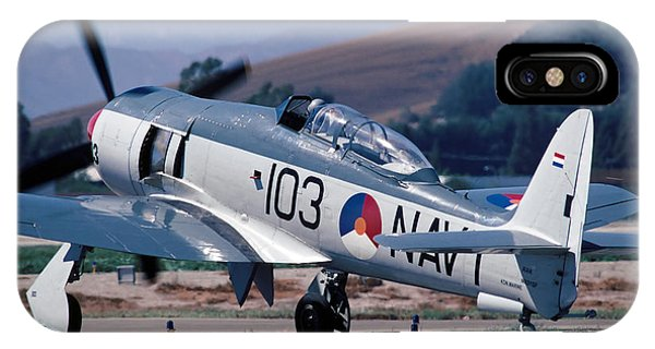 Hawker Sea Fury Nx51sf Taxiing Camarillo August 23 2003 IPhone Case