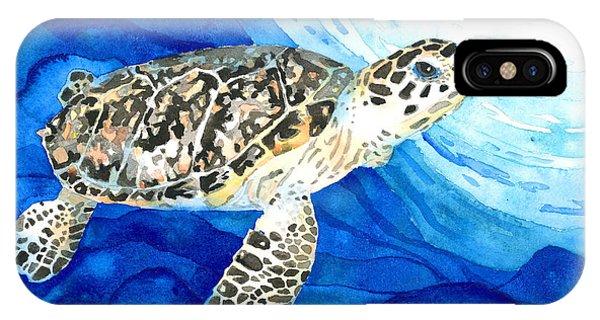 Hawksbill Sea Turtle 2 IPhone Case