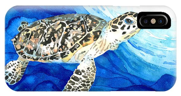 Hawksbill Sea Turtle 2 IPhone Case