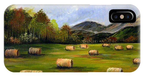 Hay Bales In Wv IPhone Case