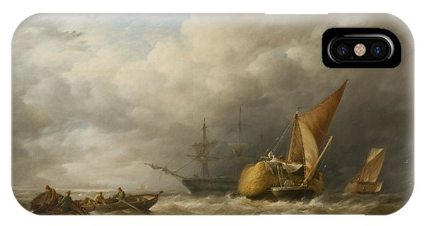 Hay Barges In The Thames Estuary IPhone Case