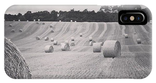Summer iPhone Case - #haybales #summer #france by Georgia Fowler