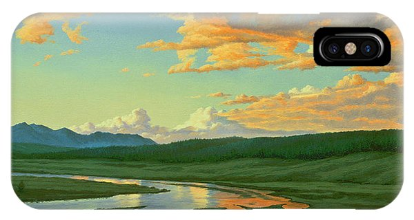 Yellowstone iPhone Case - Hayden Valley Sunset by Paul Krapf