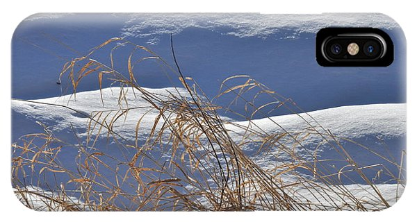 Hayfield In Winter IPhone Case