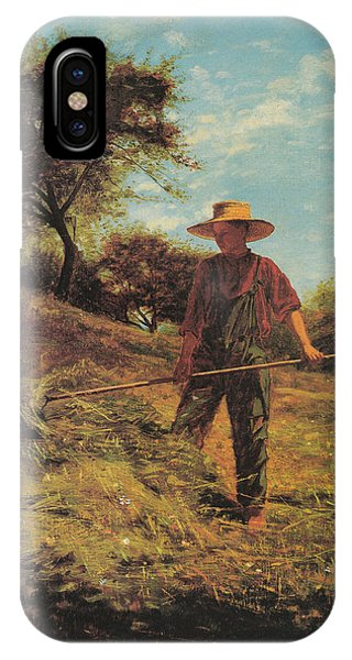 Fork iPhone Case - Haymaking by Winslow Homer