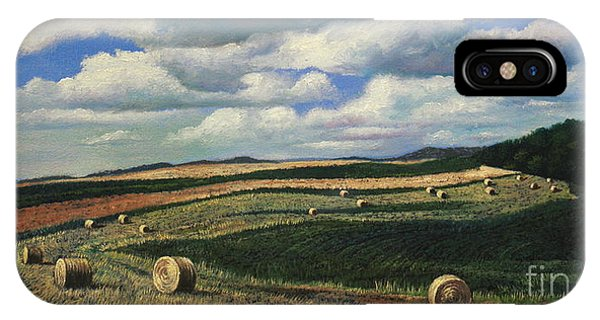 Hayrolls On Swirl Field In Latrobe By Christopher Shellhammer IPhone Case