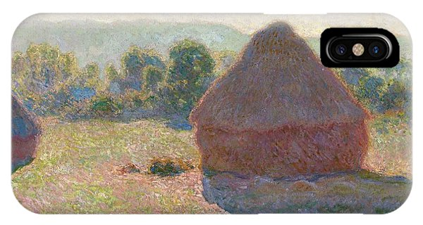 Canberra iPhone Case - Haystacks Midday by Claude Monet