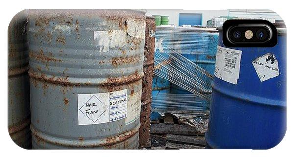 Flammable iPhone Case - Hazardous Industrial Waste by Robert Brook