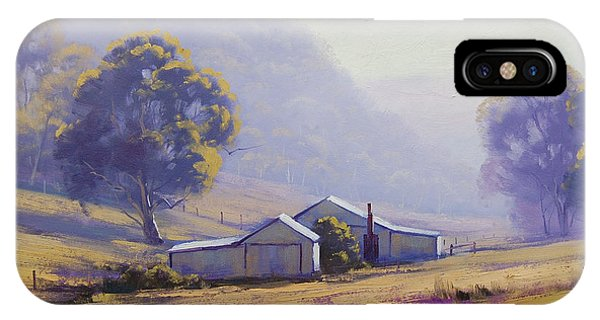 Farm iPhone Case - Hazy Morning by Graham Gercken