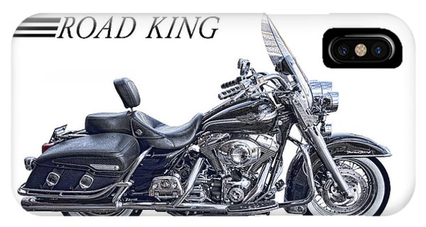 Harley iPhone Case - H D Road King by Daniel Hagerman