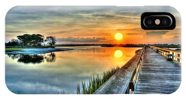 Hdr Boardwalk Sunrise IPhone Case