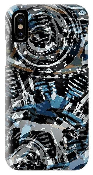 Abstract V-twin IPhone Case