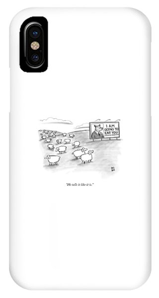 Political iPhone Case - He Tells It Like It Is by Paul Noth