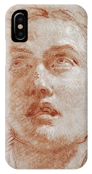 Head Of A Man Looking Up IPhone Case