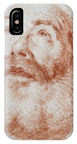 Head Of An Old Man Looking Up IPhone Case