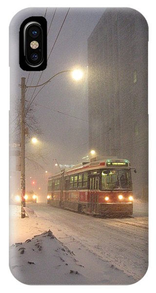 Heading Home In The Snowstorm IPhone Case