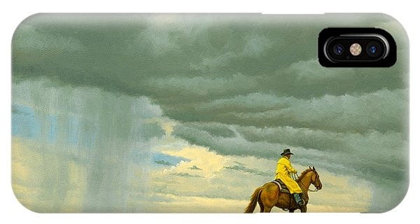 Horseman iPhone Case - Heading Home by Paul Krapf