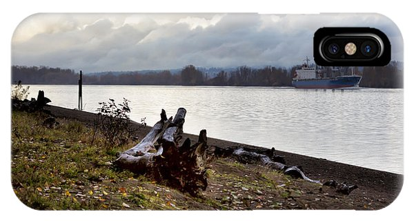 Heading North On The Columbia River IPhone Case