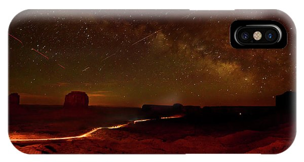 iPhone Case - Headlights And Buttes In Monument by Raul Touzon