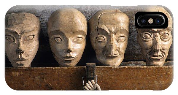 Craftsman iPhone Case - Heads Of Wooden Puppets by Bernard Jaubert
