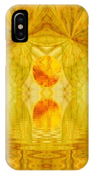 Healing In Golden Sunlight Phone Case by Ray Tapajna