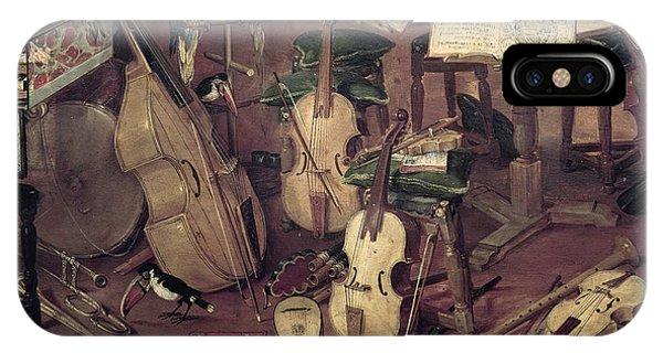 Macaw iPhone Case - Hearing, 1617 Oil On Panel Detail Of 55898 by Jan the Elder Brueghel