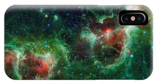 iPhone Case - Heart And Soul Nebulae by Nasa/jpl-caltech/ucla/science Photo Library