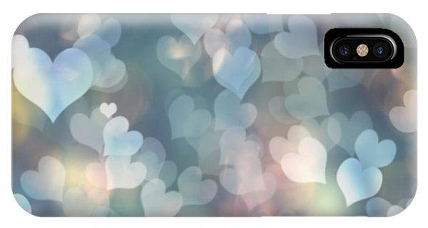 Valentine iPhone Case - Heart Background by Amanda Elwell