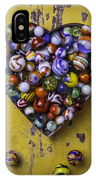 Novelty iPhone Case - Heart Box Full Of Marbles by Garry Gay
