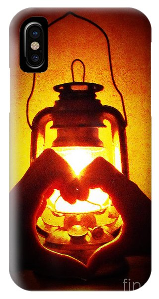 Heart By Golden Light Phone Case by Katherine Williams