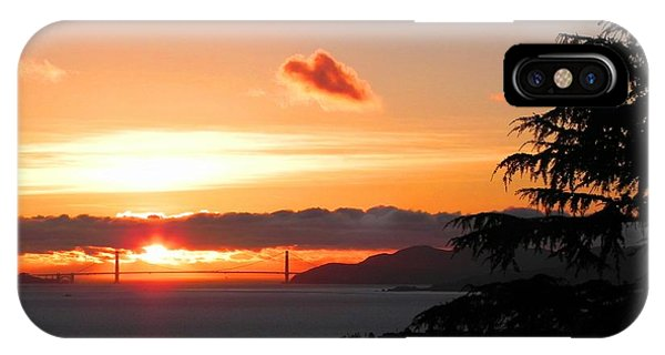 Heart Cloud Over Golden Gate Bridge IPhone Case