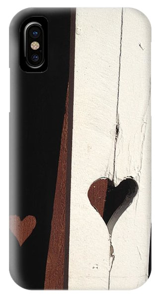 Heart Fence Shadow  IPhone Case