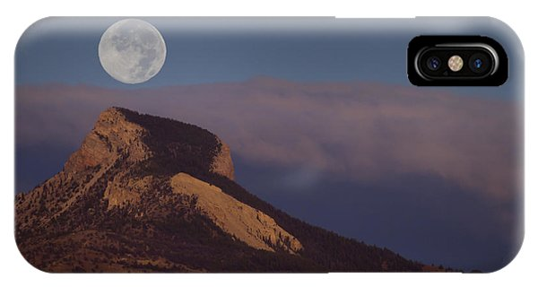 Heart Mountain And Full Moon-signed-#0325 IPhone Case