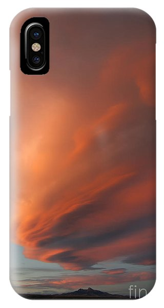 Heart Mountain Cirrus Sunset-signed IPhone Case